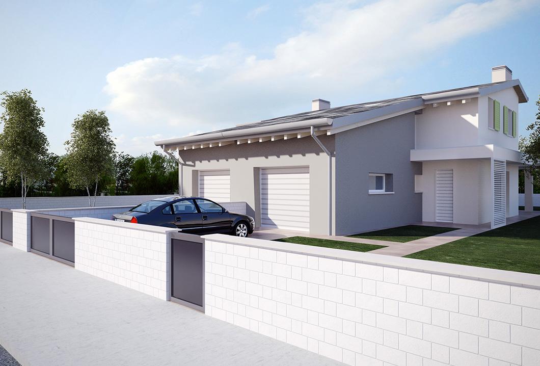 Bifamiliare s giorgio di for Piani porta garage gratuiti